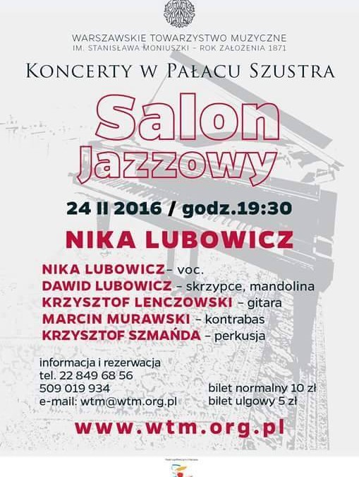 Salon Jazzowy w Pałacu Szustra