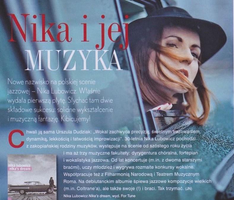 """Płyta NIKA'S DREAM  w magazynie """"Twój Styl"""""""